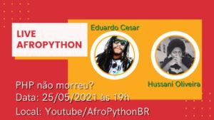 Cartaz de divulgação da palestra de PHP